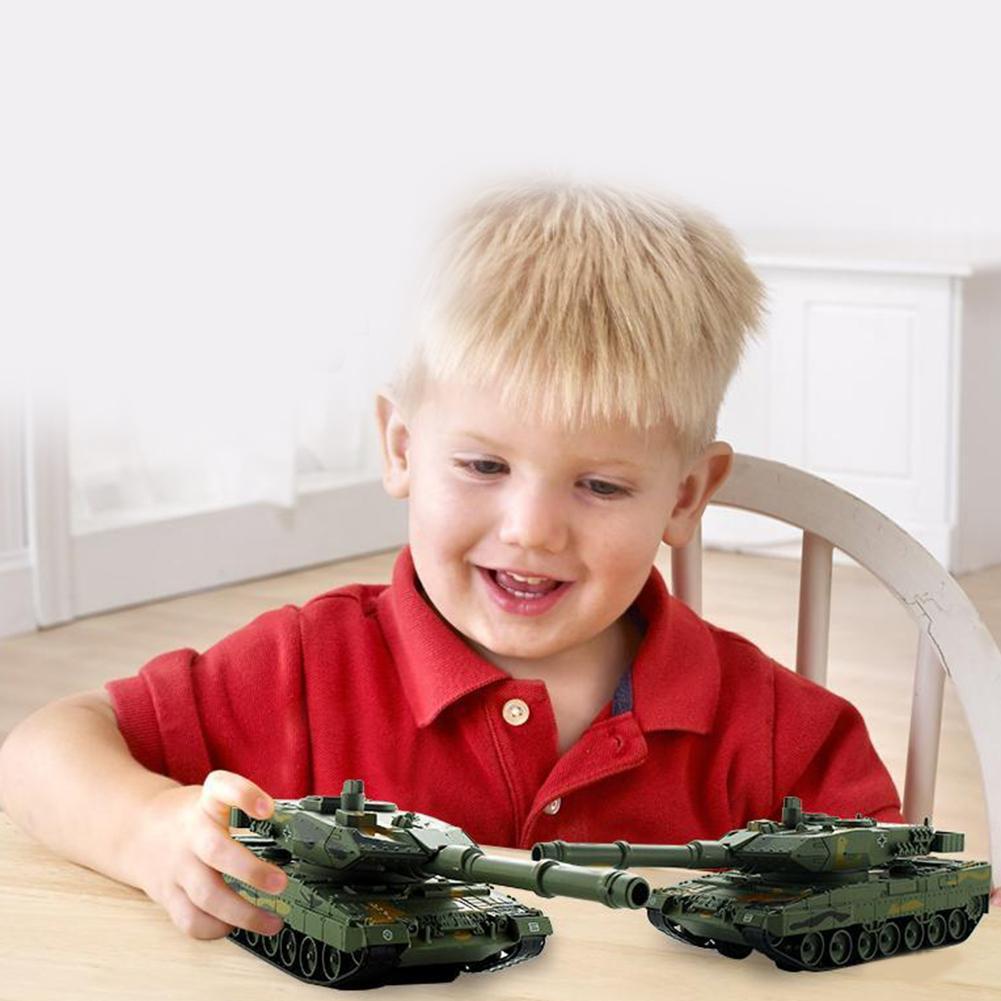 Juguete para niños 1/40 alemán 2A6 modelo de tanque de rotación militar coche extraíble con música LED juguete nuevo regalos educativos soldados tanque