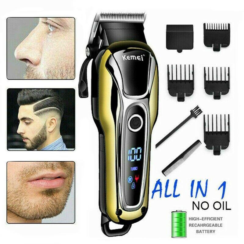 Pelo recargable Clipper de oro eléctrica Clipper recortador de pelo profesional para la barba de los hombres cortador eléctrico Máquina para cortar cabello