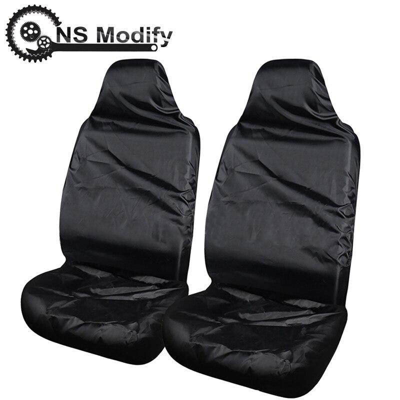 NS modificar 2 uds cubierta de asiento de coche Auto conducción Co-asiento del conductor cubierta a prueba de agua a prueba de polvo cubiertas de asiento de coche cuatro estaciones Universal