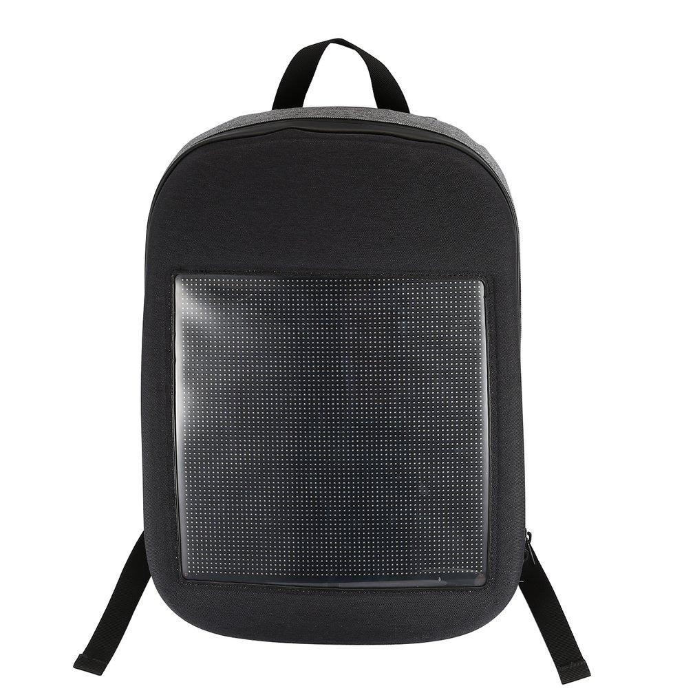 Led inteligente matriz de pontos publicidade mochila tela publicidade dinâmica diy wifi portátil escola dupla bolsa ombro dropshipping