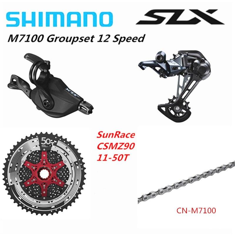 SHIMANO DEORE SLX M7100 Groupset MTB горный велосипед 1x12-Speed 11-50T SL + RD + CSMZ90 + KMCX12/CN-M7100 M7100 переключатель заднего переключателя