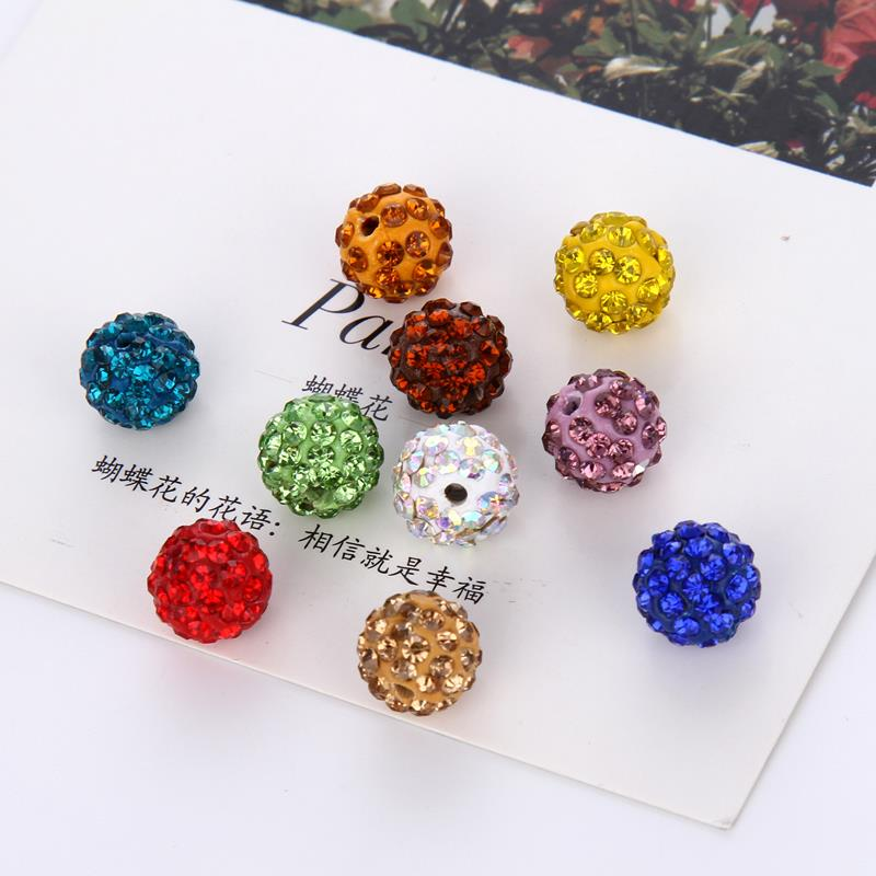 8 10mm 5/10Pcs Disco Round Ball Crystal Beads Loose Beads Jewelry Making Necklace Bracelet Pendant Wholesale
