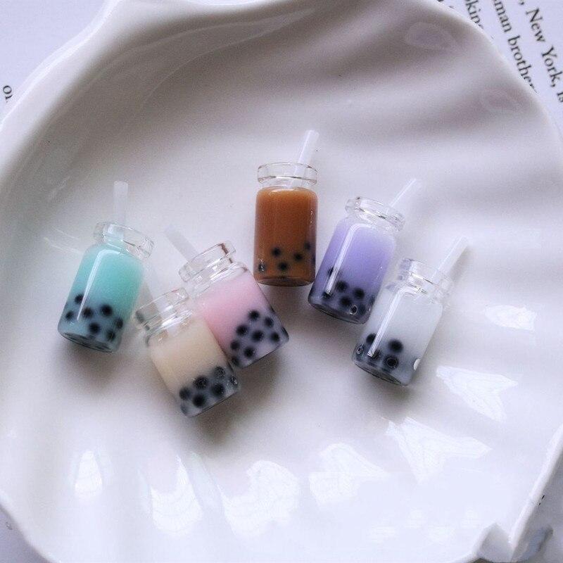 10 Uds. Decoración en miniatura de limón taza de agua de simulación bebida perla leche modelo de té casa de muñecas miniatura Accesorios