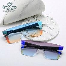 D & T 2020 lunettes de soleil Design de marque   Nouvelle mode Vintage pour hommes et femmes, lunettes de soleil classiques sans bords, multicolores UV400