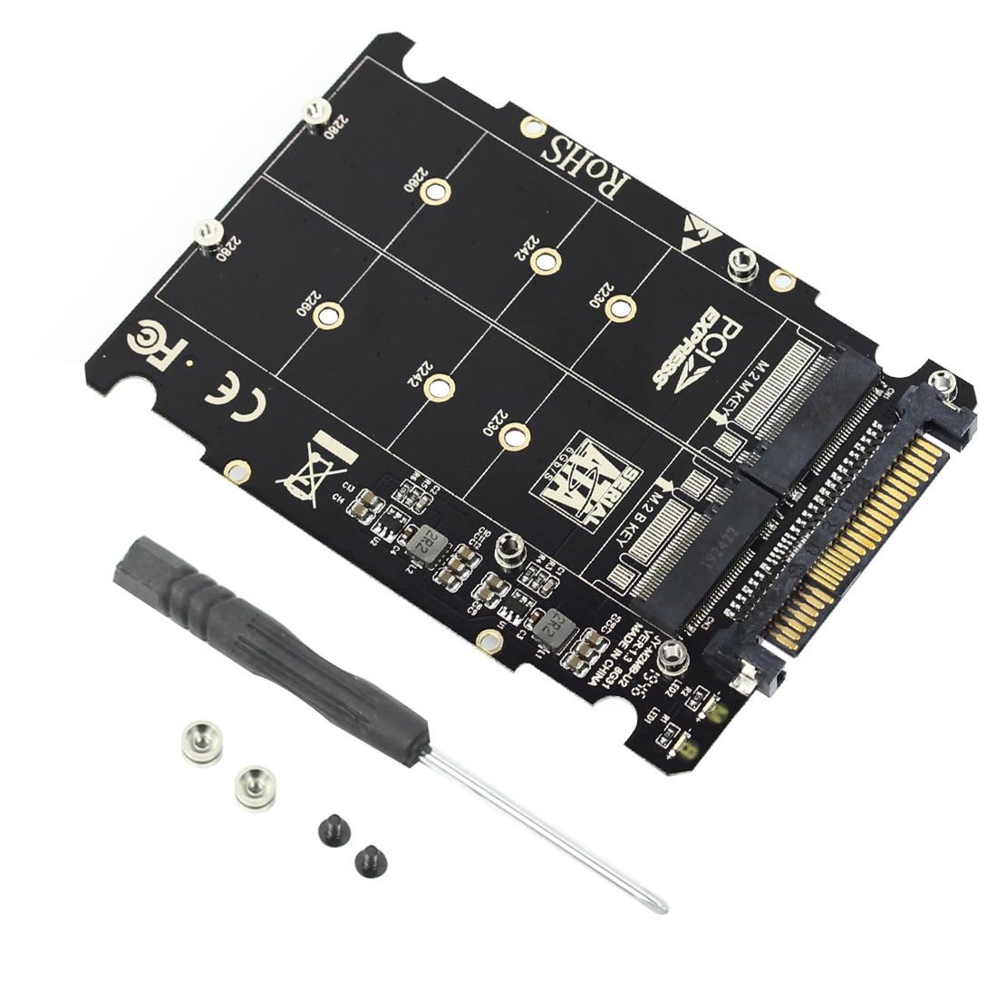 Ngff m.2 ssd m chave para u.2 adaptador 2 em 1 m2 nvme sata-ônibus para pci-e u.2 SFF-8639 adaptador pcie m2 conversor para computador desktop