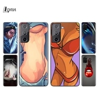 lady red lips hot girl silicone cover for samsung galaxy s21 s20 fe ultra s10 s10e lite s9 s8 s7 plus phone case