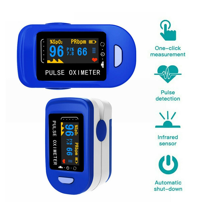Medical Household Digital Fingertip pulse Oximeter Blood Oxygen Saturation Meter Finger SPO2 PR Monitor health Care LED display