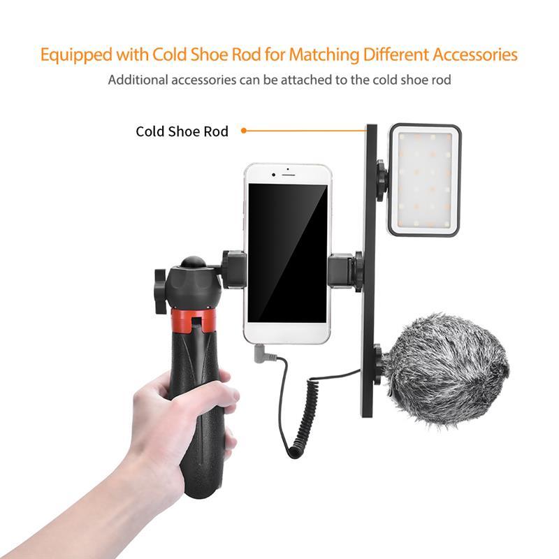 Comica CVM-VM10-K5 Tripod Holder for Vlogging Photography Smartphone Video Kit Microphone LED Light Recording Handle Bracket enlarge