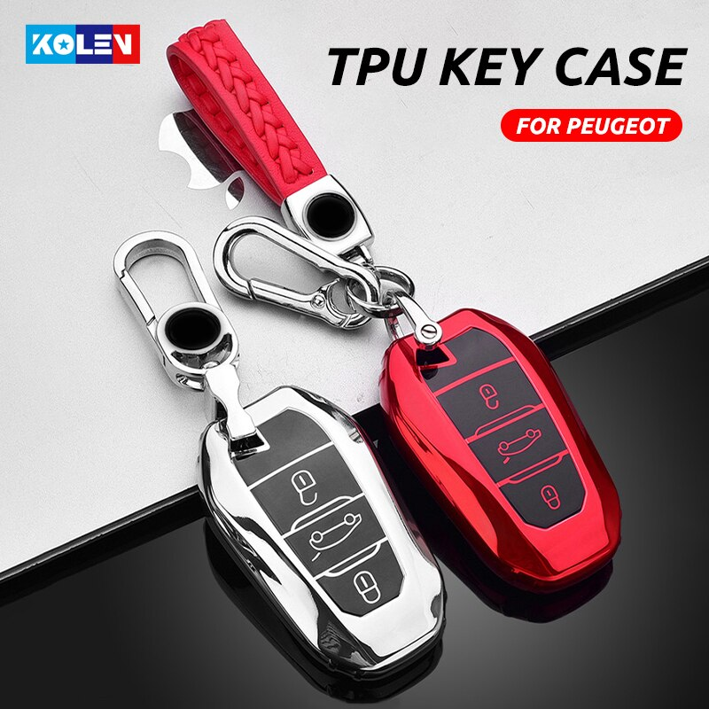 car key cover remote control flip with two buttons key shell fob for peugeot 308 207 307 3008 5008 807 for citroen c2 c3 c4 c5 Soft TPU Car Remote Key Case Cover Shell For Peugeot 308 408 508 2008 3008 4008 5008 Citroen C4 C4L C6 C3-XR Picasso DS3 DS4 DS5