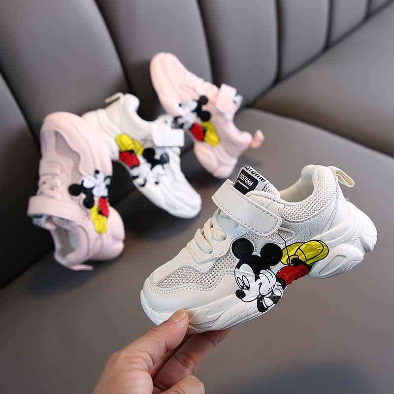Kids Shoes Girls Sneakers 2020 Spring Autumn Boys Shoes Children's Cartoon Pu Mesh Sport Running Sneakers Student Casual Shoe