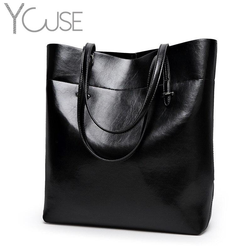 Bolso de mano de cuero para mujer, bolso de mano para mujer, bolso de hombro de gran capacidad negro para ocio, carteras Bolsas de mujer de moda