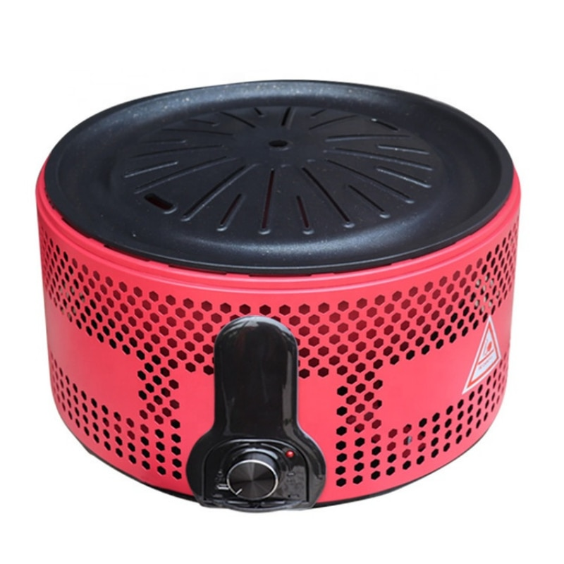 indoor/outdoor Maifan stone non-stick  bbq grill smokeless windproof portable battery barbecue grills with USB interface