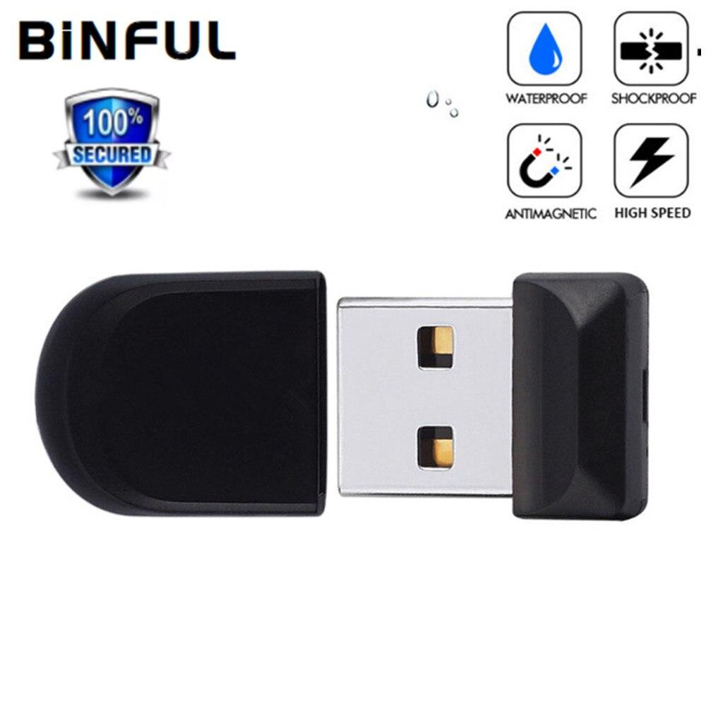 Супермаленький Usb флеш-накопитель BiNFUL, флешка USB 2,0, карта флэш-памяти 4 ГБ, 8 16 32 64 лучший подарок