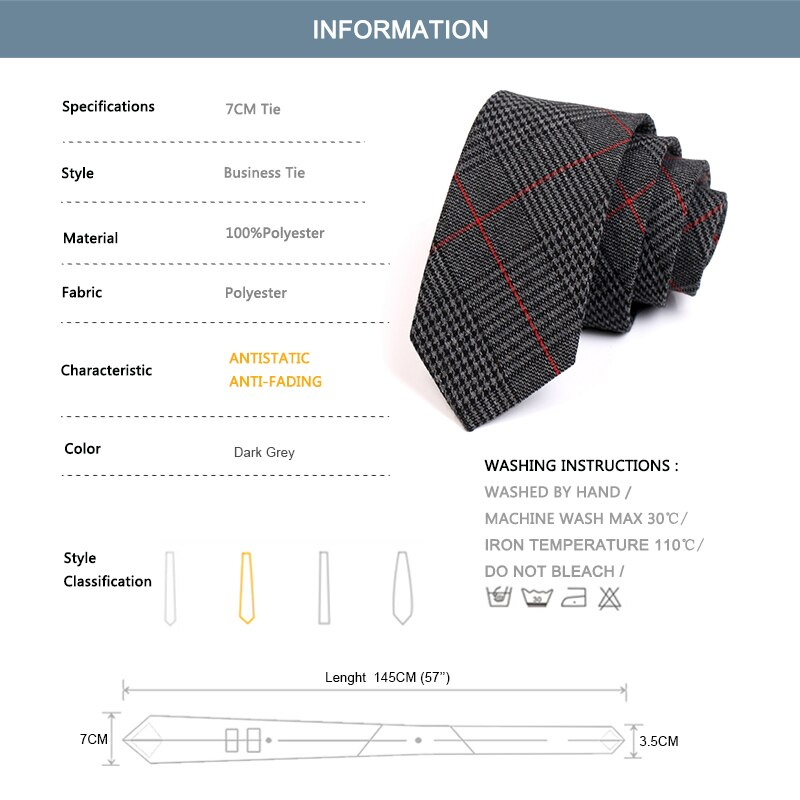 New Design 6CM Slim Tie Gentleman Grey Plaid Ties High Quality Fashion Formal Tie For Men Business Suit Work Necktie Gift Box