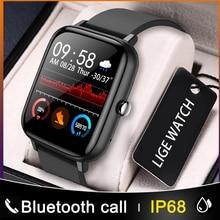 LIGE  Bluetooth Call Fashion Smart Watch Ladies Heart Rate Blood Pressure Multifunctional Sport Watc