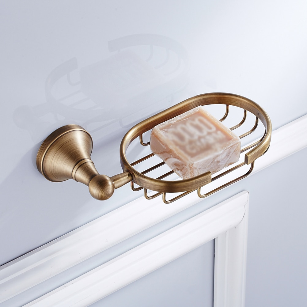 Soap Holder Retro European Soap Dish Wall Mounted Innovative Soap Rack Basket Soap Dish For Hotel Bathroom Accessories leyden new brass oil rubbed bronze soap dishes ceramic soap basket wall mounted shower soap dish holder bathroom accessories