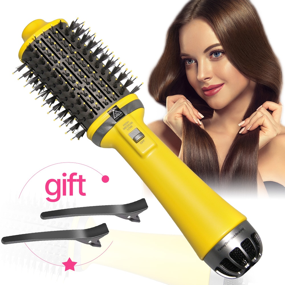 New 3th One Step Hair Dryer Hot Air Brush Professional Blow Dryer Comb Curling Iron Hair Straightene