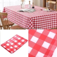 hot 1pc disposable checkered tablecloth polypropylene fiber tablecloth party weddings outdoor picnic bbq table cover 180180cm