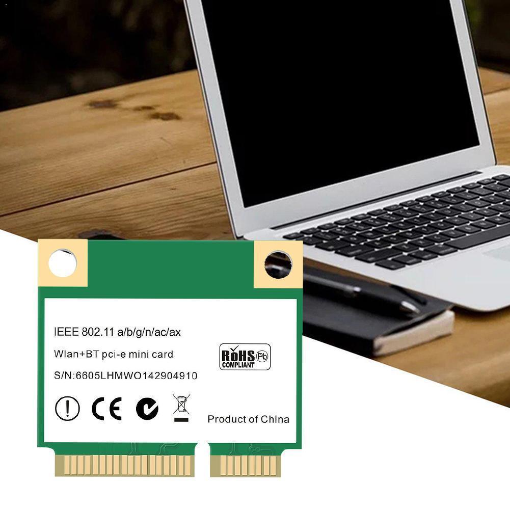AX3000H Mini PCI-E WiFi 6 Wireless Network Card 2.4 / 802.11ac Ax 5.0 MU-MIMO Bluetooth 5G / U8T5