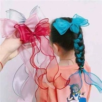 2pcsset net yarn bow hairpin simple and cute princess hair accessories new products issued in the spring of 2021