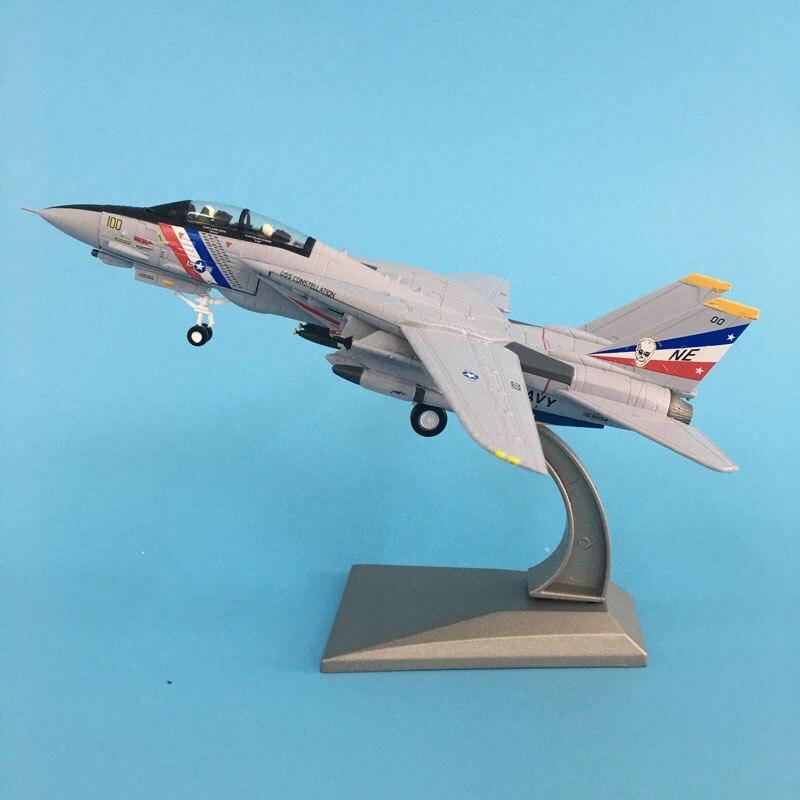 Modelo de avión Diecast Metal de 1: escala de 100 de los Estados Unidos de la Armada Americana ejército F14 avión modelos de avión juguete para las colecciones