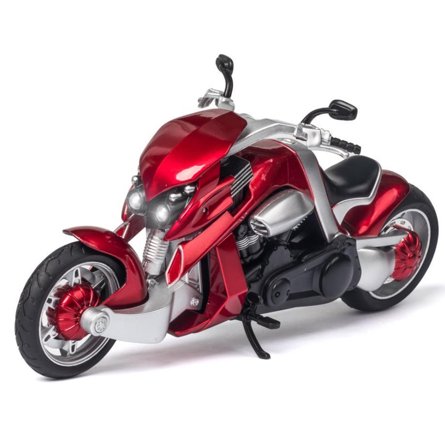Producto en oferta, escala 112, modelo de metal japonés yamaha V-REX con sonido ligero, vehículo de motocicleta diecast, colección de juguetes de aleación Tyrannosaurus Rex