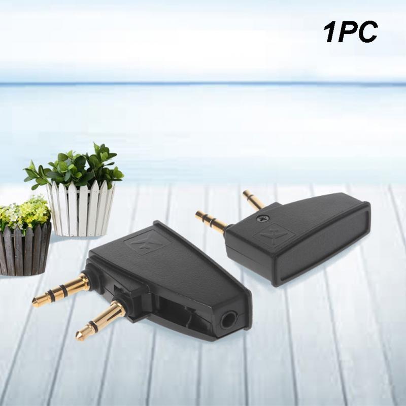 Adaptador de auriculares con conector de avión de 3,5mm adaptadores de enchufe plegables accesorios de viaje para auriculares BoseQC15 QC QC25 QC35 rango completo