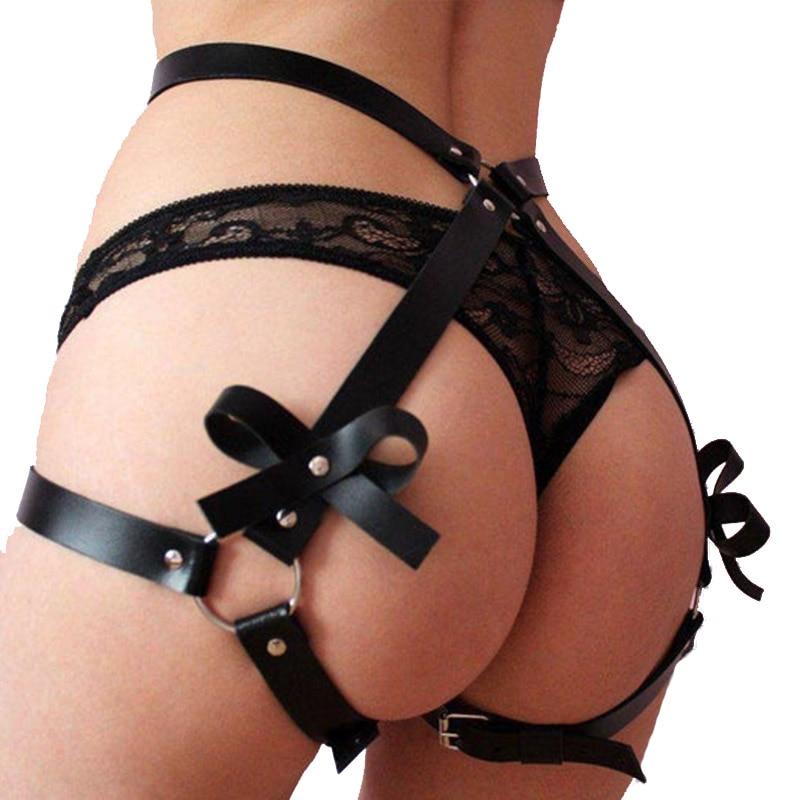 Leather Leg Garter Body Strap Harness Belt Bridal Garters Body Waist Bondage Cage Sexy Erotic Garter Belt Suspender Lingerie