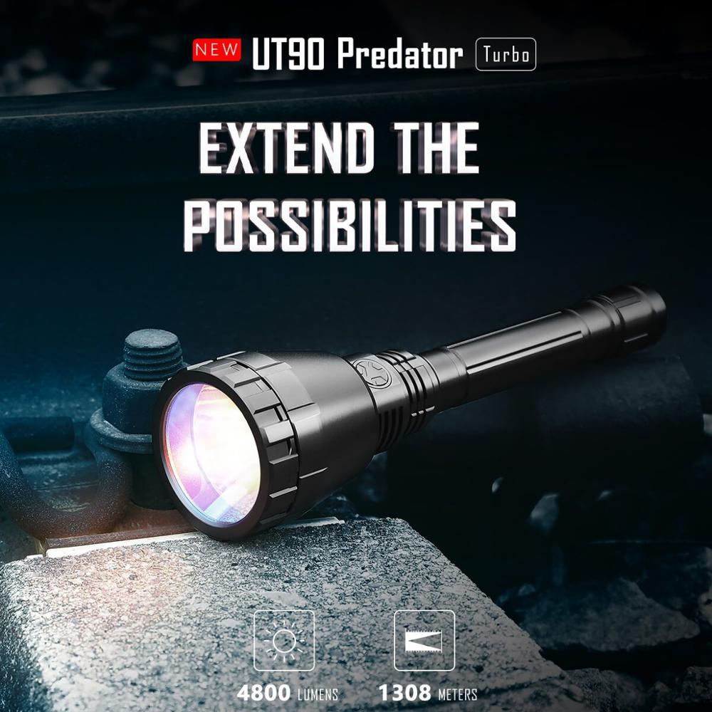 IMALENT UT90 Tactical Flashlight Luminus SBT-90 2nd 4800LM LED Flashlight with 21700 Battery for Hunting or Search and Rescue enlarge