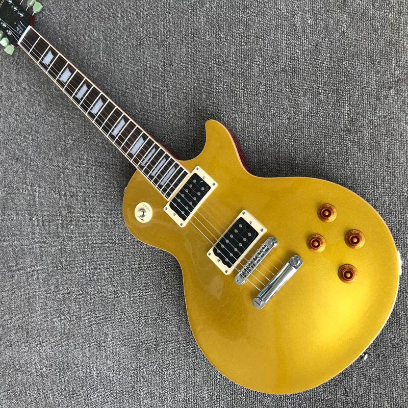 Guitar Exclusive Quality. Integrated Electric Guitar, Upgrade Tune-O-Matic Bridge Guitar Gold Powder. Free Delivery