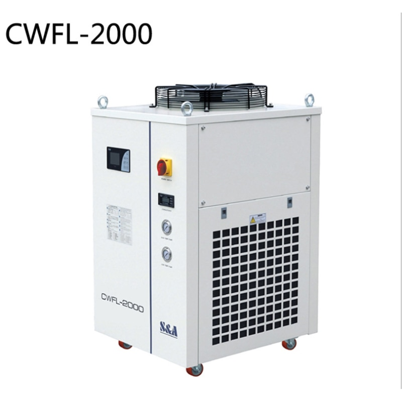 Water Chiller Machines CWFL-1000 CWFL-2000 For Cooling 1KW 2KW Fiber Lasers Cutting Machine enlarge
