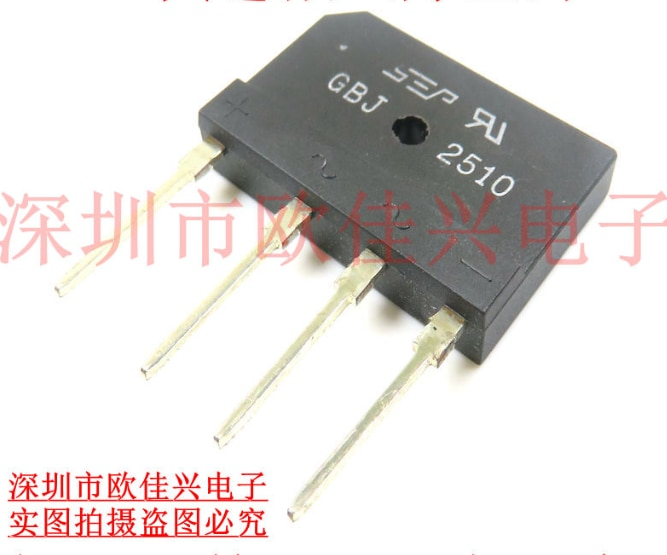 Xinyuan 5 PÇS/LOTE ZIP 25A 1000V diodo ponte retificadora gbj2510 PONTE RECT 1 FASE 1KV 25A GBJ