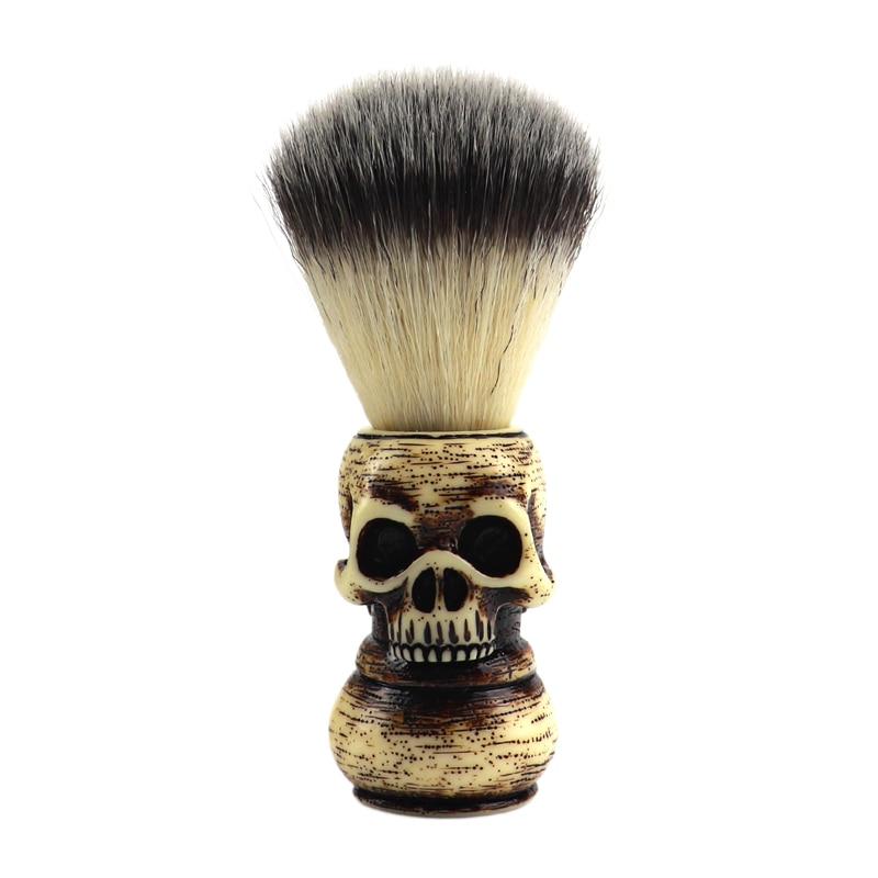 Barber Shop Fashion High-end Skull Shaving Brush Foaming Soap Bowl Set Men's Beard Facial Cleansing Tool Shaving 2pce Tool Set