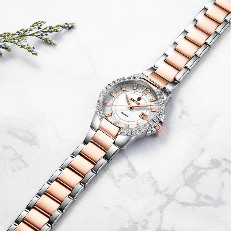 KADEMAN Luxury Ladies Wristwatch Excellent Waterproof Crystal Dress Watch Quality Brand Design Watch New Fashion Women Clock enlarge