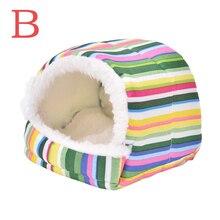 Mini fournitures colorées et chaudes pour Hamster 8cm x 8cm, nid de Hamster en peluche, maison de petit animal domestique