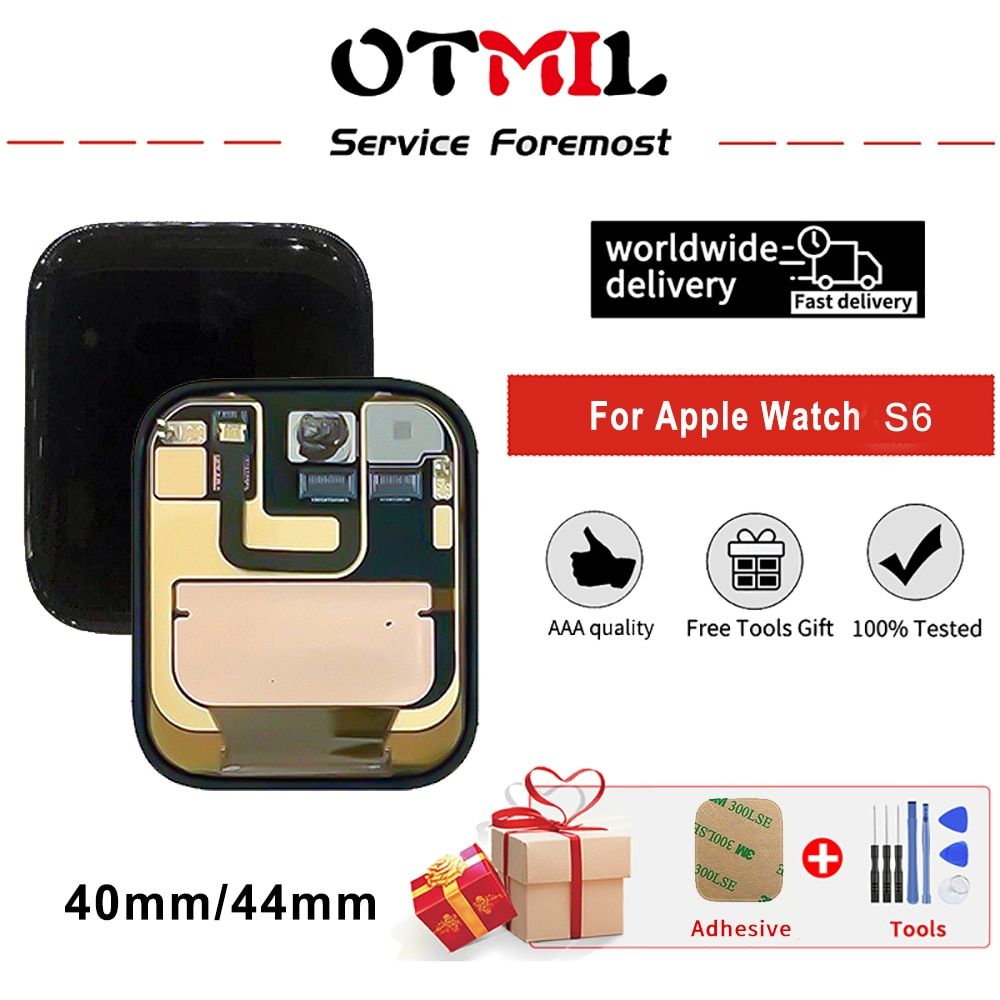 OTMIL For Apple Series 6 Watch 6 LCD Original GPS+Cellular Display Digitizer Assembly For iwatch 6 Series6 S6 40mm 44mm LCD