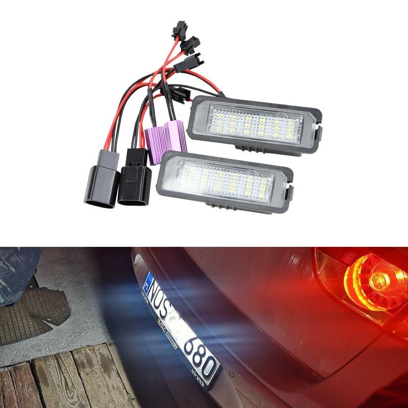 Светодиодный светильник s для номерного знака, для Seat Altea XL Freetrack Exeo/ST Leon/Leon4 Ibiza Cupra Bocanegra Fr, белый светильник