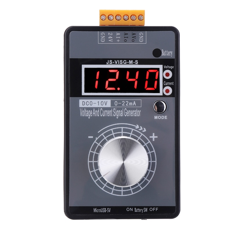 1pc Digital 4-20mA 0-10V Voltage Signal Generator 0-20mA Current Transmitter Electronic Measuring Instruments