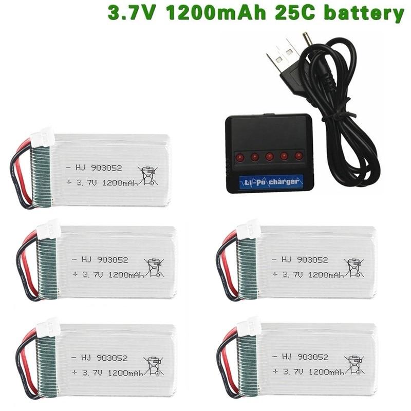 3.7v 1200mah 25c lipo bateria e carregador para syma x5 x5c x5hw x5sw m18 h5p para rc câmera droens qaudcopter peças de bateria de reposição