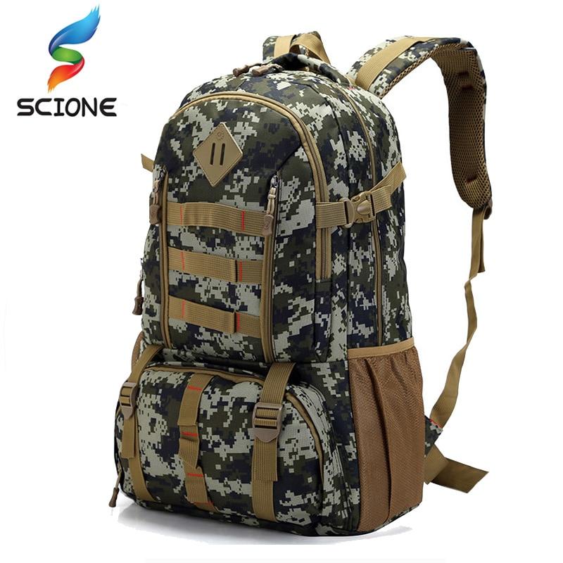 ホットトップ品質大 50L 防水モール軍事戦術バックパック狩猟ハイキングキャンプリュックサック軍バックパックスポーツバッグ