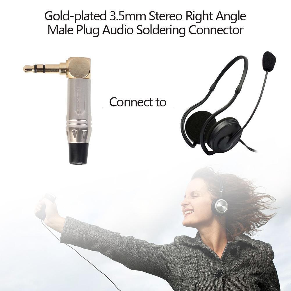 3,5 мм l-тип стерео разъем аудио конвертер адаптер правый угол 90 градусов мужской аудио MP3 наушники пайки Разъем доступа