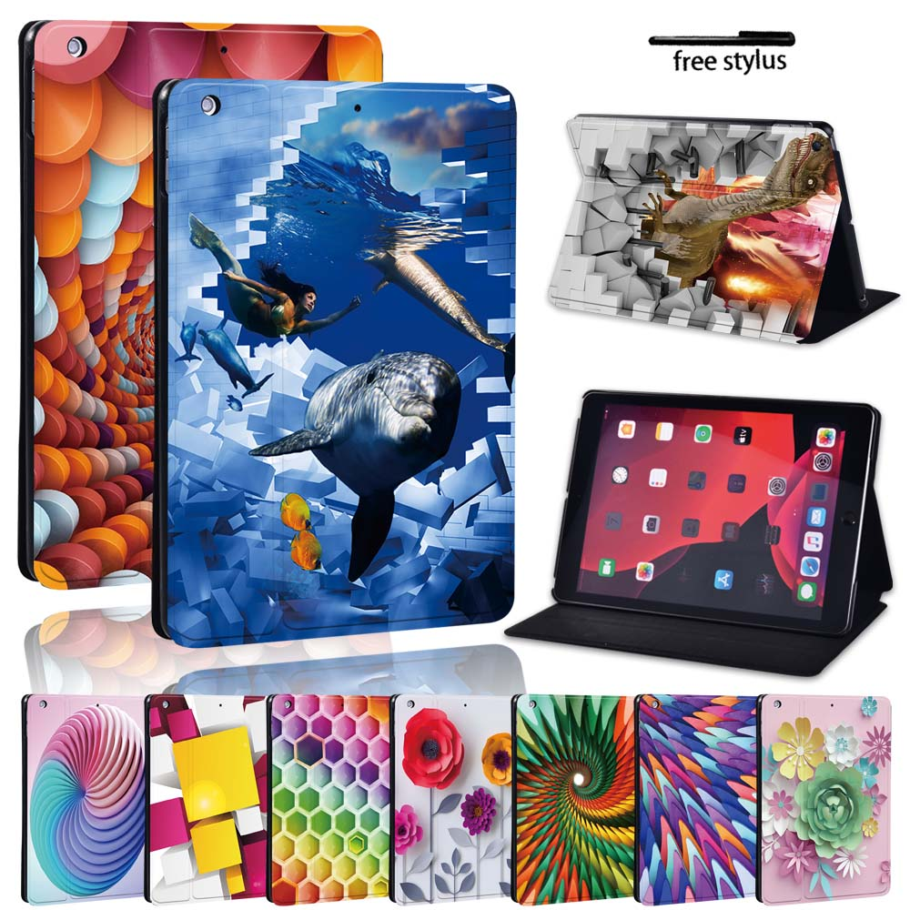 For Apple IPad 2020 8th Gen/iPad Mini 7.9/iPad Air/iPad Pro 11/10.5/9.7 inch - Leather Stand Folio Durable Tablet Cover Case mandala pu leather stand cover case for apple ipad ipad mini ipad air ipad pro tablet lightweight durable protective case