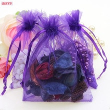 Lot de 10 sacs à bijoux en Organza, 25x35, 30x40, 35x50cm, pochettes cadeaux de mariage, emballages de bijoux, présentoirs, 5Z