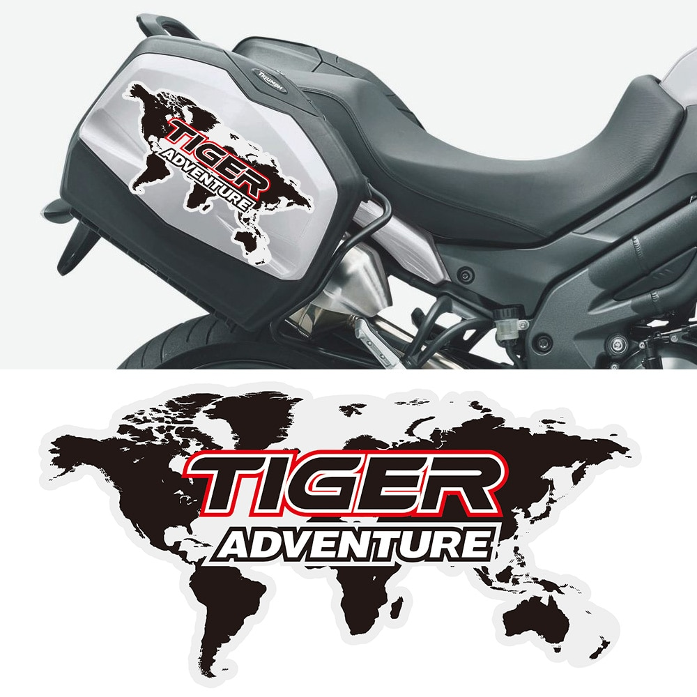 Para triumph tiger 800 1200 1050 2020 xr range explorer aventura adesivos decalque alumínio panniers bagagem caso caixa lateral adesivo