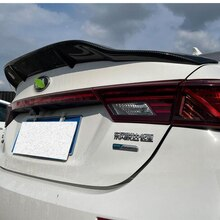 FOR Real Carbon Fiber Spoiler Accessory Kia NEW K3 Car Trunk Rear LIP WING Decoration Tail FIN Refit