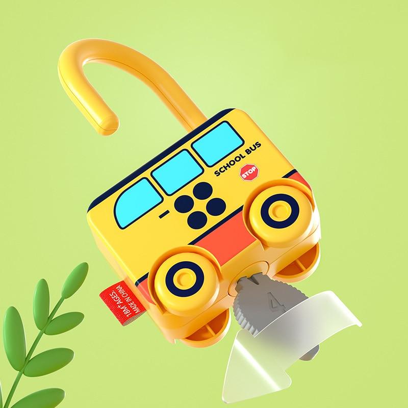 Детские Обучающие замки с ключами Обучающие дошкольные цифры подсчет Монтессори Автомобильные игрушки Обучающие пособия игрушки детские ...
