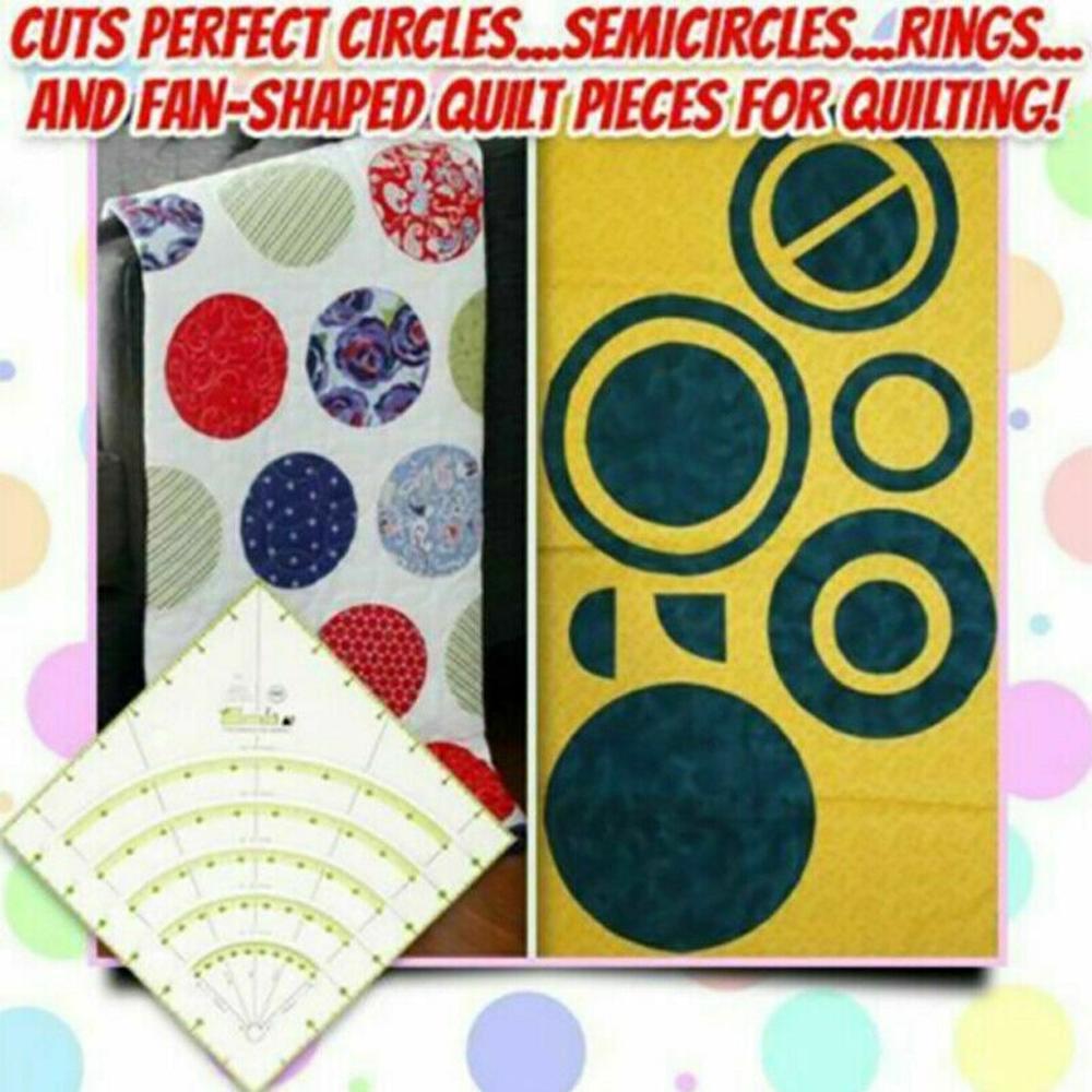 Arcos & fãs quilt círculo cortador régua multifuncional corte retalhos régua