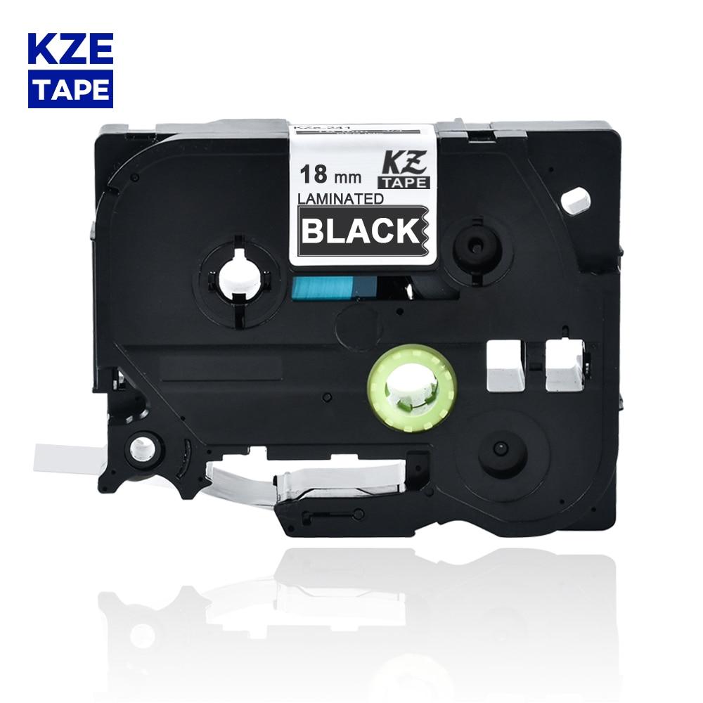 18mm Tze345 blanco en negro laminado cinta de Cassette cinta de etiqueta tze cinta Tze-345 tze 345 tze345 para p-touch PT