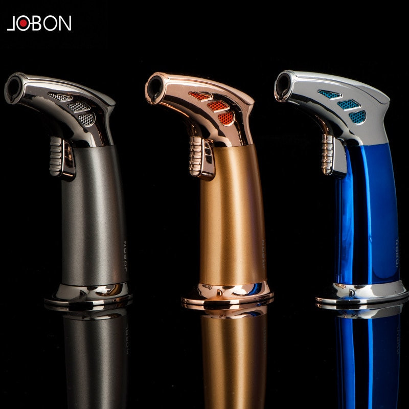 Impact flame torch jet flame outdoor windproof lighter lighter creative cigar lighter barbecue kitch