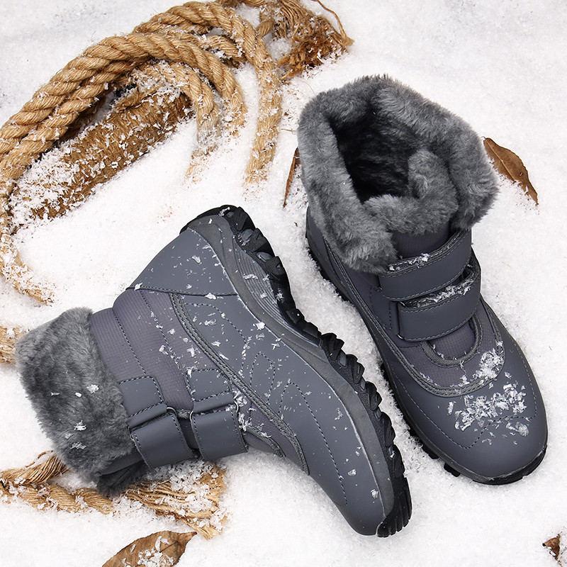 Женские ботинки, зимние ботинки, женские модные уличные плюшевые теплые женские зимние ботинки с мехом, водонепроницаемые женские ботильон...
